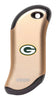 Front of champagne NFL Green Bay Packers: HeatBank 9s Rechargeable Hand Warmer