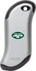 Front of silver NFL New York Jets: HeatBank 9s Rechargeable Hand Warmer