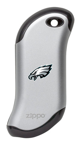 Silver NFL Philadelphia Eagles: HeatBank 9s Rechargeable Hand Warmer