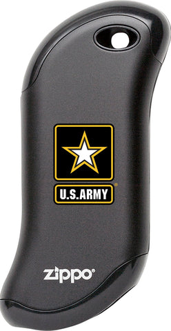 Front of black U.S. Army: HeatBank 9s Rechargeable Hand Warmer