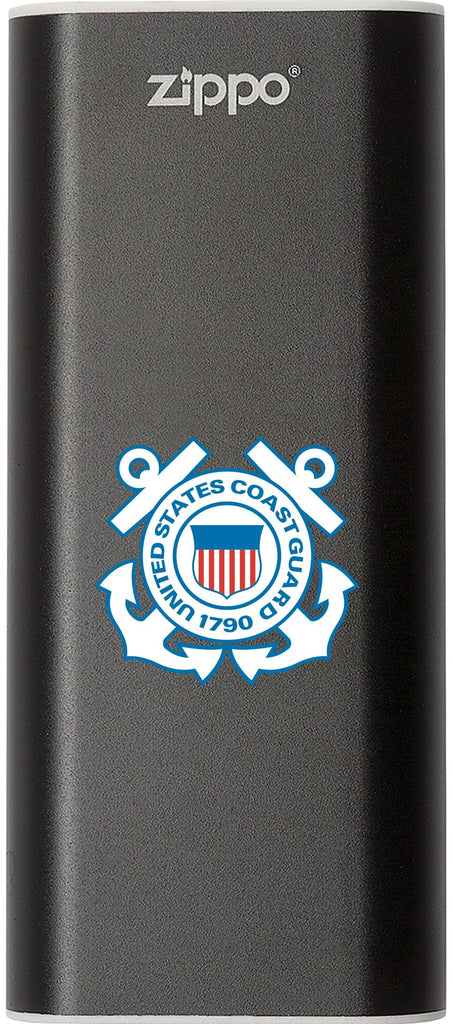 Front of black Coast Guard HeatBank 3 Rechargeable Hand Warmer