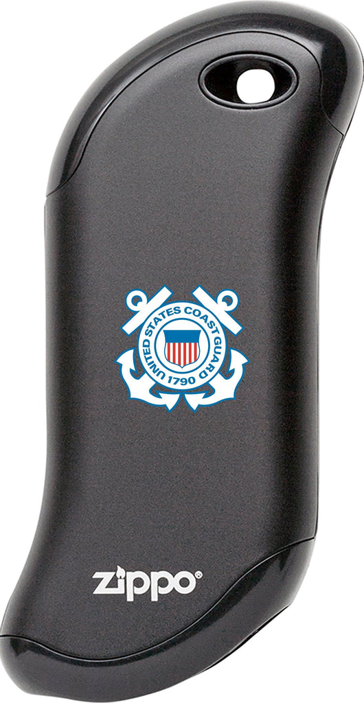 Front of black Coast Guard: HeatBank 9s Rechargeable Hand Warmer