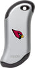 Front of silver NFL Arizona Cardinals: HeatBank 9s Rechargeable Hand Warmer