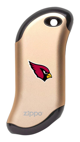 Front of champagne NFL Arizona Cardinals: HeatBank 9s Rechargeable Hand Warmer