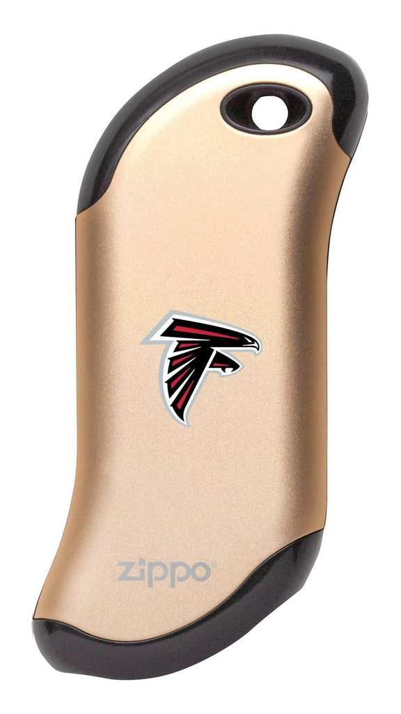 Front of champagne NFL Atlanta Falcons: HeatBank 9s Rechargeable Hand Warmer