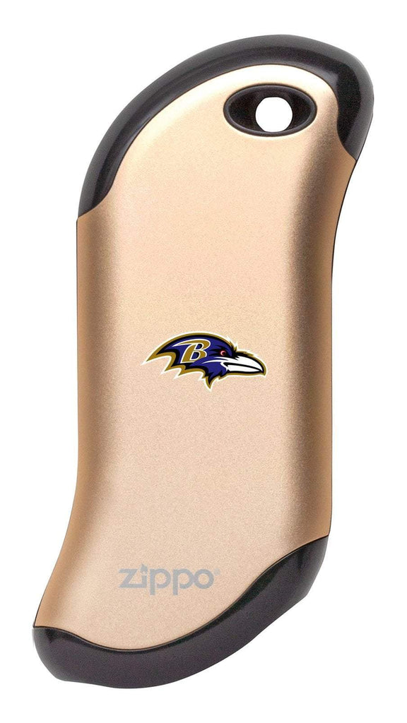 Front of champagne NFL Baltimore Ravens: HeatBank 9s Rechargeable Hand Warmer