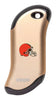 Front of champagne NFL Cleveland Browns: HeatBank 9s Rechargeable Hand Warmer
