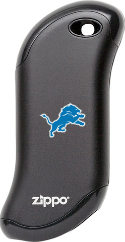 Front of Black NFL Detroit Lions: HeatBank 9s Rechargeable Hand Warmer