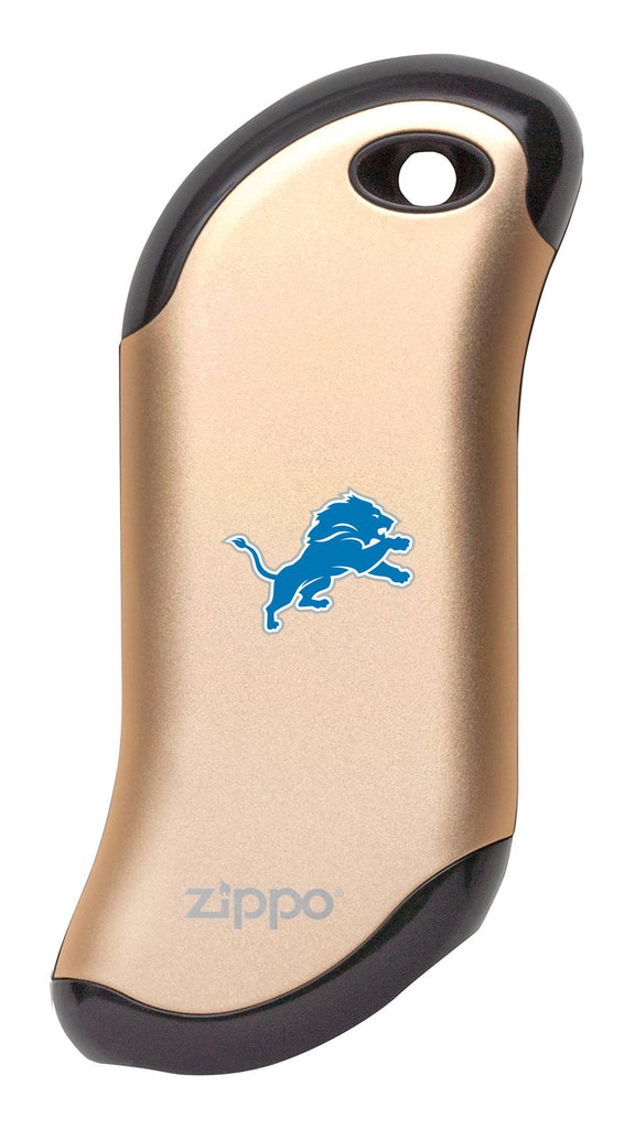 Front of champagne NFL Detroit Lions: HeatBank 9s Rechargeable Hand Warmer