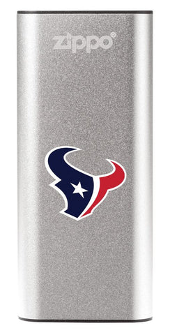 NFL Houston Texans: HeatBank 3-Hour Rechargeable Hand Warmer front silver