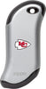 Front of silver NFL Kansas City Chiefs: HeatBank 9s Rechargeable Hand Warmer