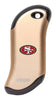 Front of champagne NFL San Francisco 49ers: HeatBank 9s Rechargeable Hand Warmer