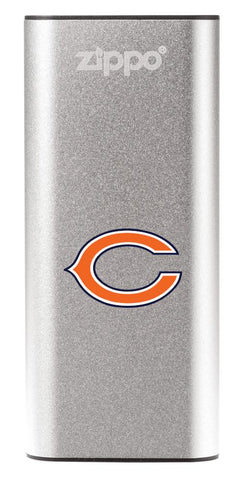NFL Chicago Bears: HeatBank 3-Hour Rechargeable Hand Warmer front silver