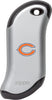 Front of silver NFL Chicago Bears: HeatBank 9s Rechargeable Hand Warmer