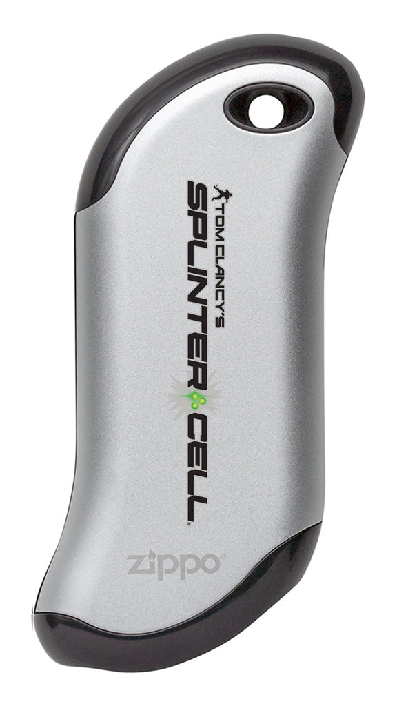 Front view of Tom Clancy's Splinter Cell®HeatBank® 9s Rechargeable Hand Warmer - Silver