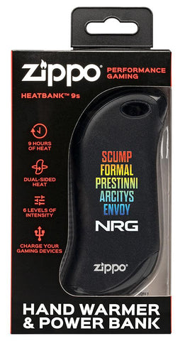 Black NRG Chicago Huntsman Team: HeatBank® 9s Rechargeable Hand Warmer in packaging