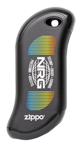 Front shot of NRG: Chicago Huntsman Black HeatBank® 9s Rechargeable Hand Warmer