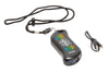 Black NRG: Chicago Huntsman HeatBank® 9s Rechargeable Hand Warmer laying with included lanyard and charging cable