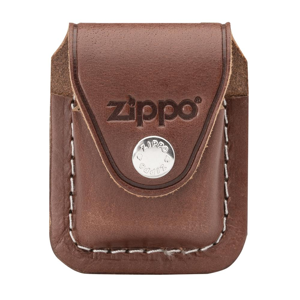 Front image of Brown Lighter Pouch- Clip