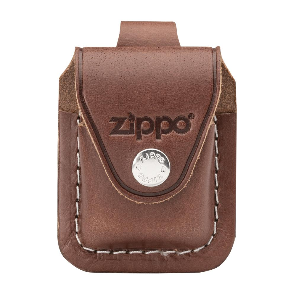 Front image of Brown Lighter Pouch- Loop