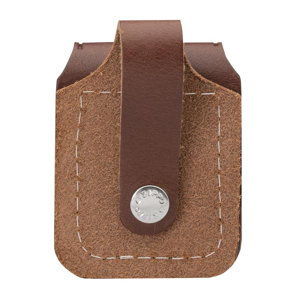 Back of Brown Lighter Pouch- Loop, showing the loop