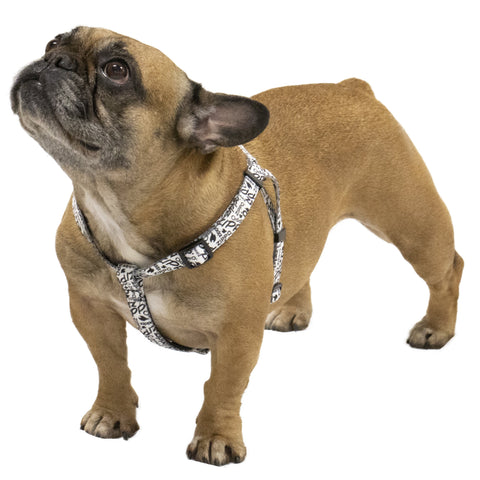 White Nylon Pet Harness