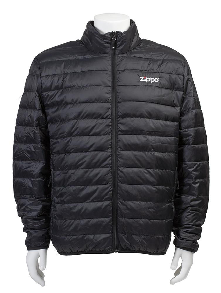 Front of Zippo Men's Packable Down Jacket zipped up