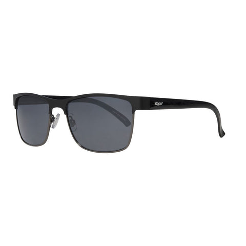 Black Semi-Rimless Sunglasses