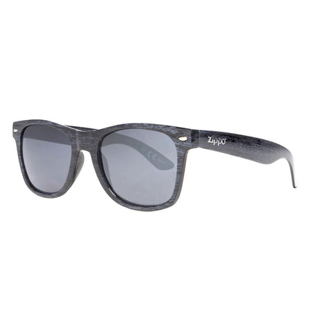 Grey Classic Sunglasses with Patterned Frames