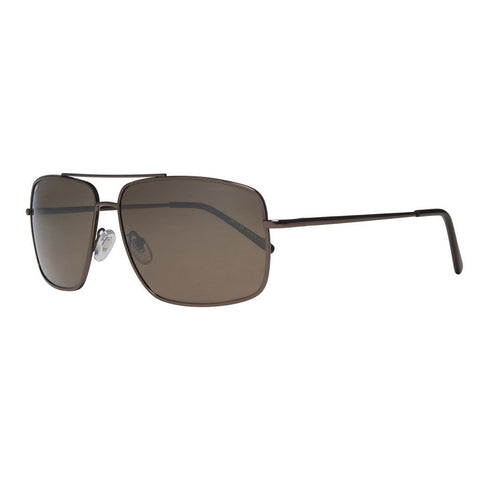 Bronze Pilot Rectangle Sunglasses