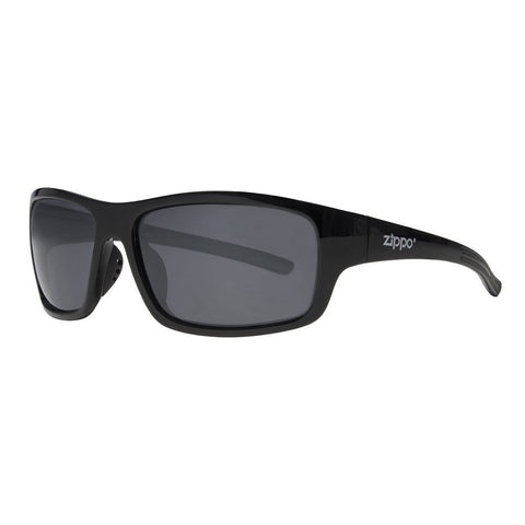 Full Frame Black Wrap Sunglasses