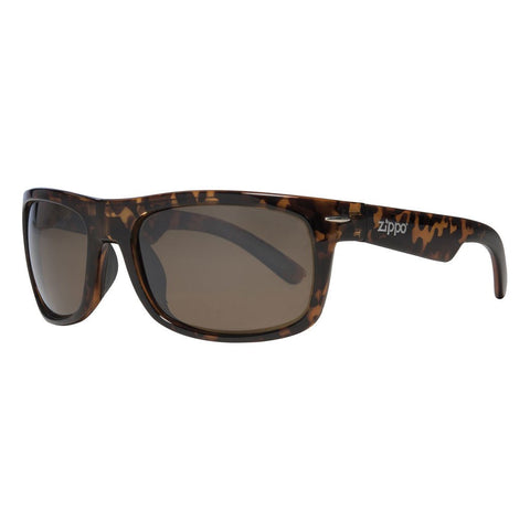 Classic Brown Flash Lens Sunglasses with Patterned Frames