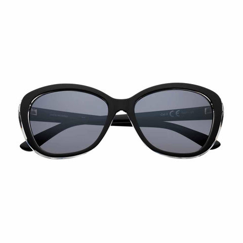 OG11-01, Black Polarized Oval Sunglasses