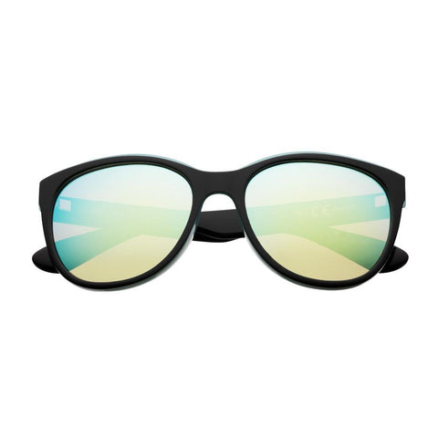 Reflective Green Polarized Oversized Sunglasses