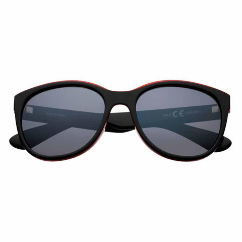 Black/Orange Polarized Oversized Sunglasses