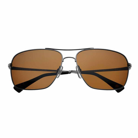 Brown Pilot Readers, Polarized, Black Metal Rim