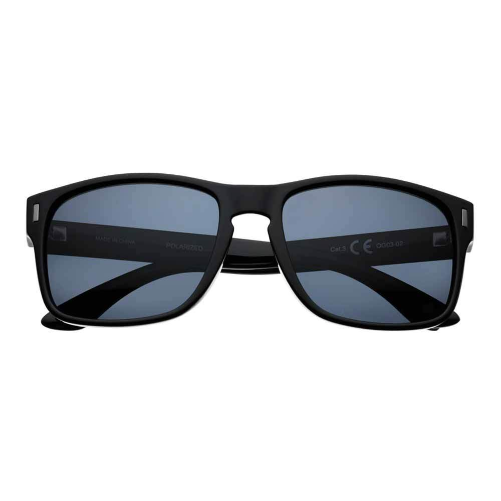 Front of Black Polarized Square Sunglasses