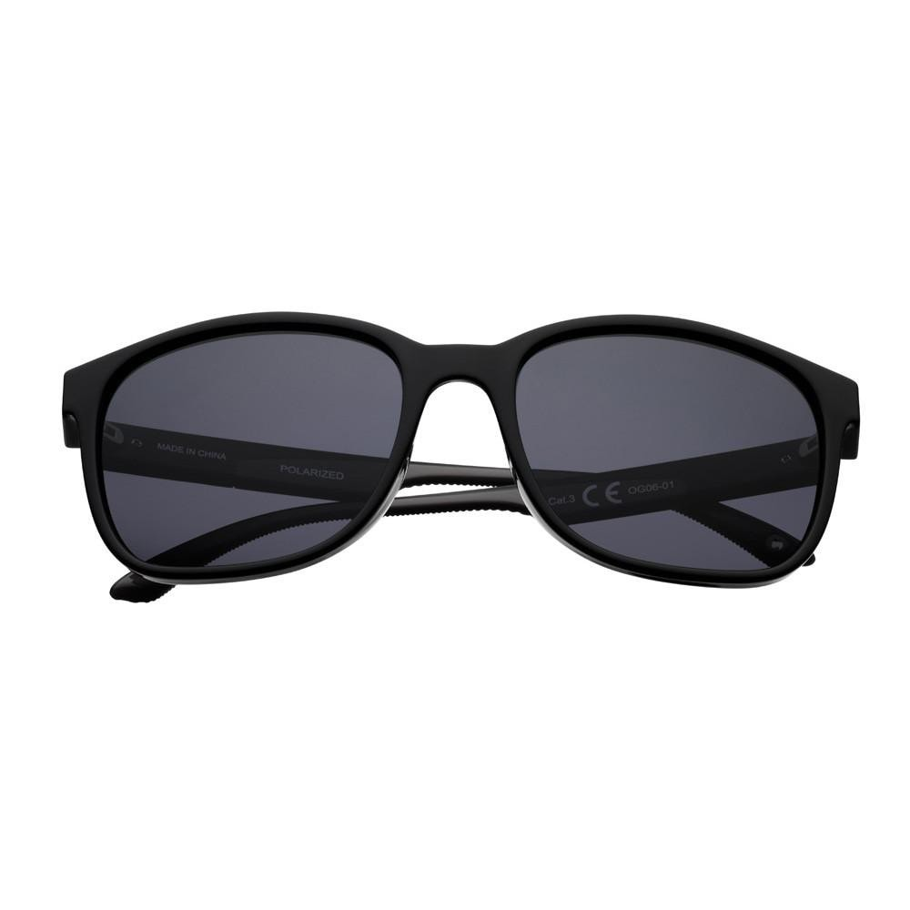 OG06-01, Black Polarized Teardrop Sunglasses
