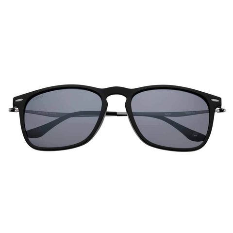 Black Polarized Slender Teardrop Sunglasses