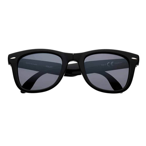 Black Polarized Folding Sunglasses