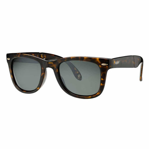 Dark Brown Polarized Folding Sunglasses