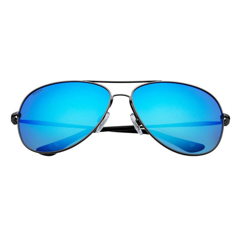 Blue Reflective Polarized Pilot Sunglasses