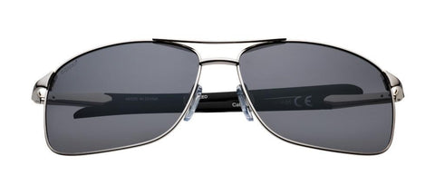 Silver Polarized Pilot Sunglasses