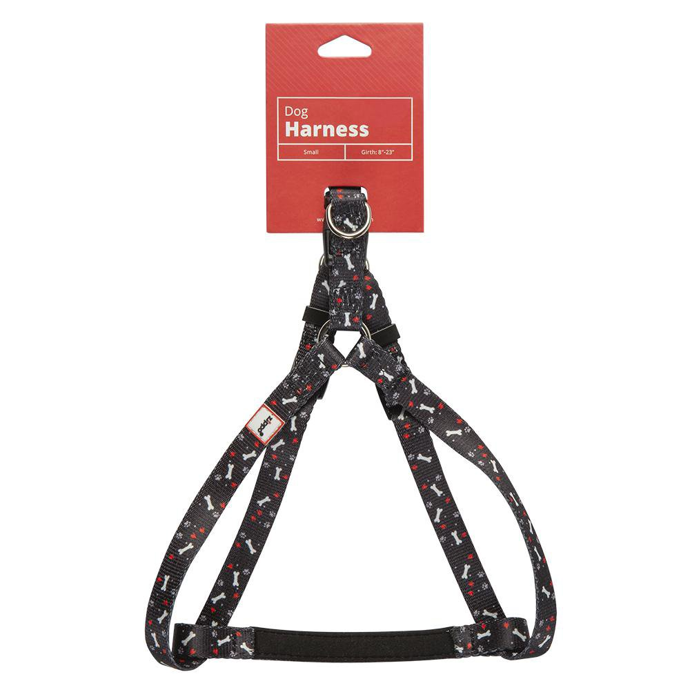Black Zippo Pet Harness with its tag packaging