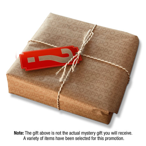 Photo sample of mystery box. Note that gift in photo is not the actual mystery gift you will receive. A variety of items have been selected for this promotion.