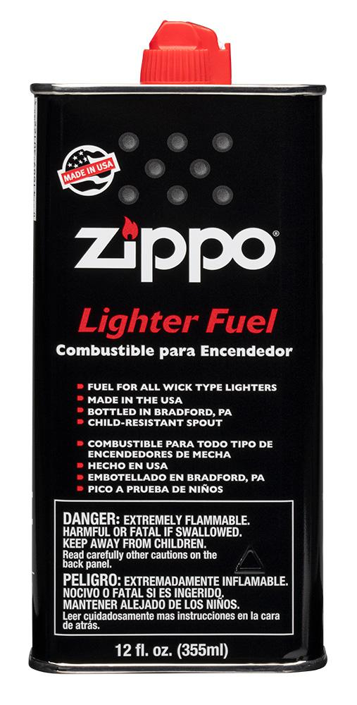 Front of Authentic Zippo Lighter Fuel - 12 oz.