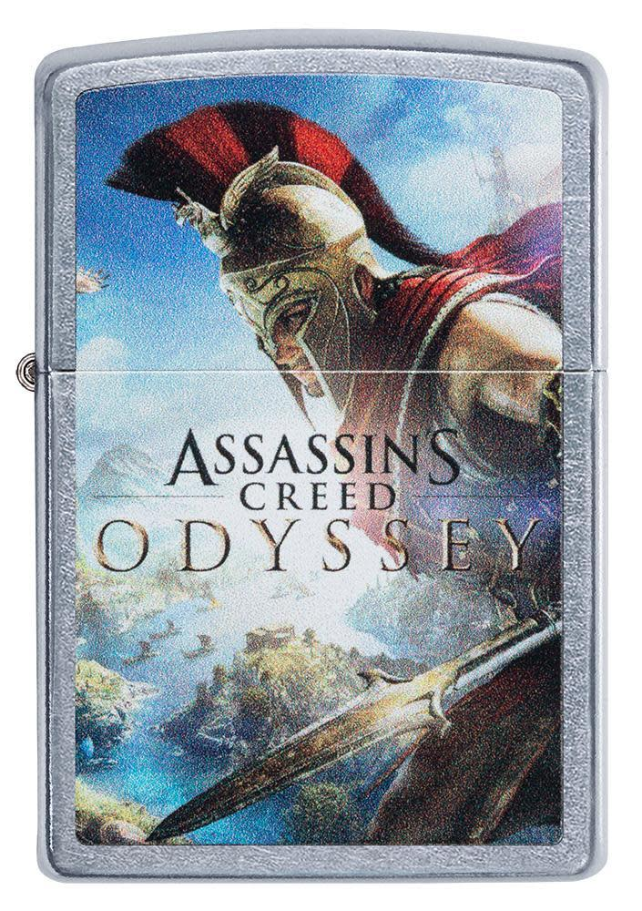 Assassins Creed Odyssey Street Chrome windproof lighter in packaging