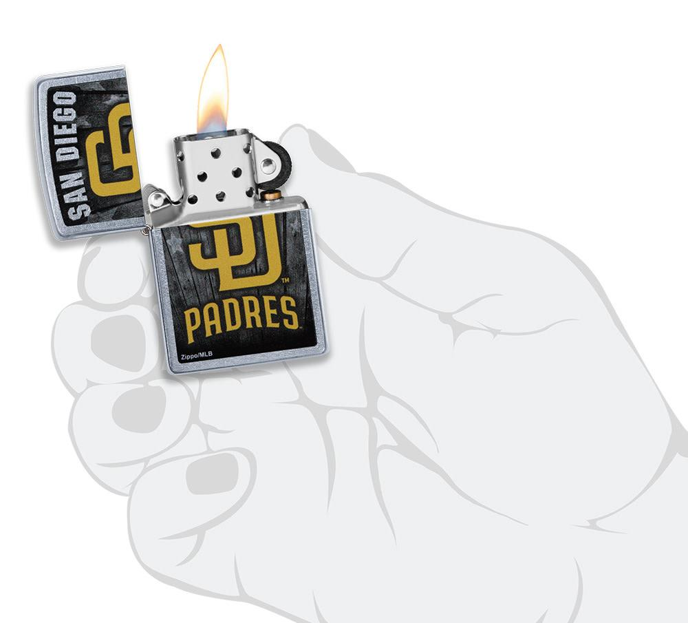 MLB San Diego Padres Lighter lit in hand
