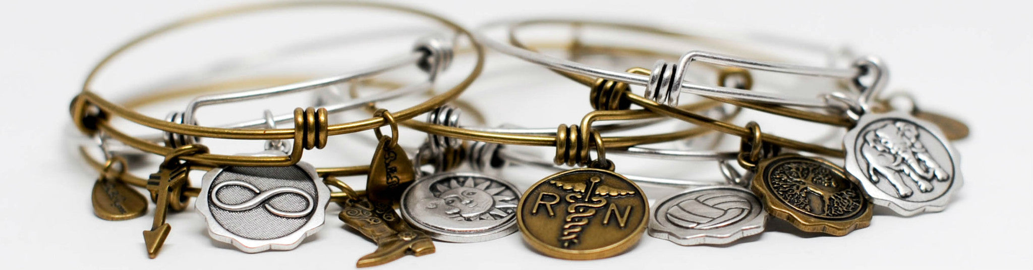 General Expandable Bangle Charm Bracelets