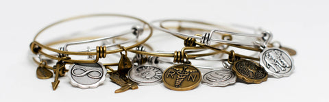 Expandable Charm Bangle Bracelets
